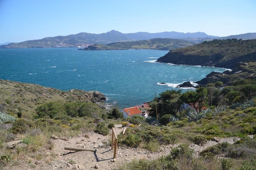 Côte Vermeille en direction de l'Espagne depuis le Cap Béar
