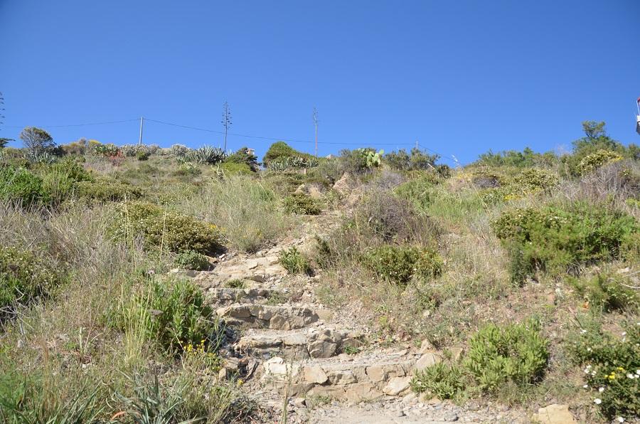 Sentier d'accès pour la plage de Ste Catherine à Port Vendres